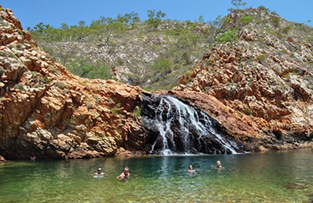 Crocodile Creek in Yampi Sound is a little paradise tucked away behind the sandstone